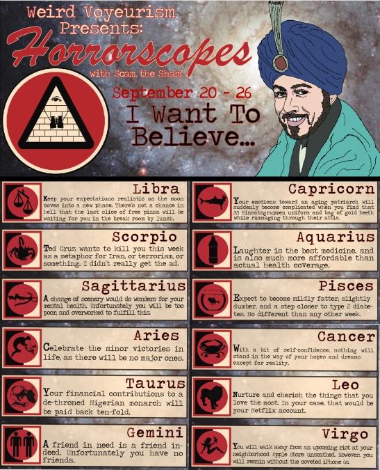 Horrorscopes Sept. 20-26