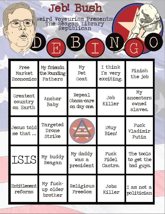 Jeb Bush Bingo