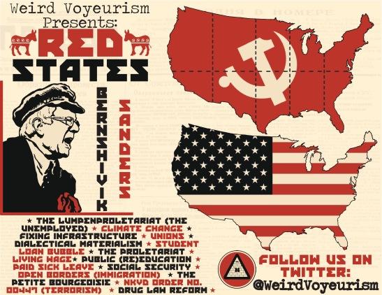 Bernie Red States card